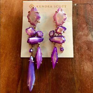 Kendra Scott Asymmetrical Lilac MOP Earrings- RARE